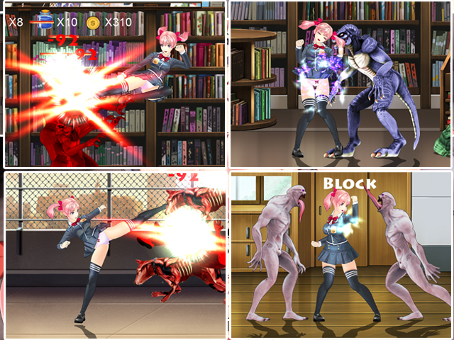 Fighting girl sakura-r save